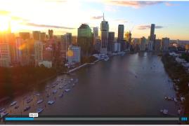 Vídeo!!! Brisbane visto desde un DRONE :)