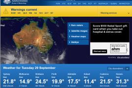 WEB – The Bureau of Meteorology is Australia's national weather