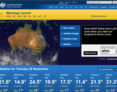 WEB – The Bureau of Meteorology is Australia's national weather