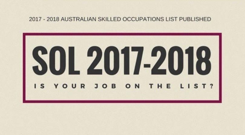 Nueva lista de ocupaciones SOL 2017 – 2018